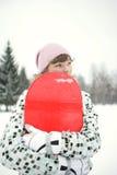 Beau snowborder de fille photos libres de droits