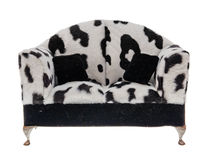 Beau sofa d'isolement sur le blanc Photographie stock