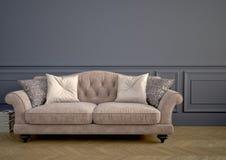 Beau sofa de vintage rendu 3d Photos libres de droits