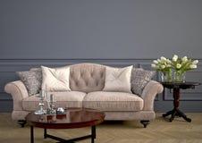 Beau sofa de vintage rendu 3d Photos stock
