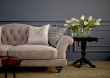 Beau sofa de vintage rendu 3d Photo libre de droits