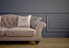 Beau sofa de vintage rendu 3d Images stock