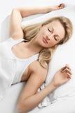 Beau sommeil de femme Photographie stock libre de droits