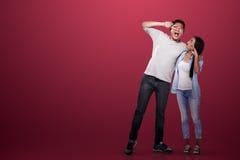 Beau sourire asiatique de couples Photographie stock libre de droits