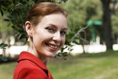 Beau sourire, belles dents rouges Images libres de droits
