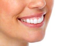 Beau sourire de femme Photo libre de droits