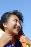 Beau sourire de fille Images libres de droits