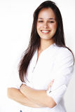 beau sourire de fille d'affaires Images libres de droits