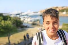 Beau sourire de garçon de yeux verts Photos libres de droits