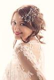 Beau sourire de jeune mariée Photo stock