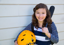 Beau sourire de l'adolescence de portrait de fille Images libres de droits