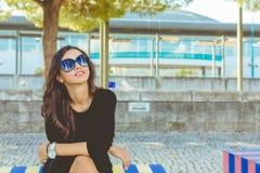 Beau sourire de mode Photographie stock libre de droits