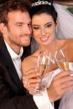 Beau sourire engagé de couples Image libre de droits