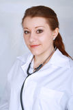 Beau sourire femelle asiatique de médecin Photo stock