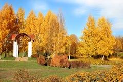 Beau stationnement d'automne Automne à Minsk Arbres et lames d'automne Autumn Landscape Parc en automne Forêt en automne Photos stock