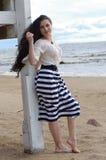 Beau sur la plage Photo libre de droits