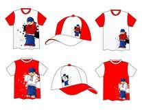 Beau T-shirt de vecteur Image stock