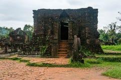 Beau temple à mon sanctuaire de fils, Vietnam Photo stock