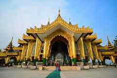 Beau temple à Yangon, Myanmar Photo stock