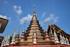 Beau temple en Thaïlande Images libres de droits