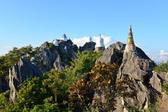 Beau temple thaïlandais de Wat Chalermprakiat Prajomklao Rachanusorn Photos stock