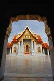 Beau temple thaïlandais Wat Benjamaborphit, Images stock