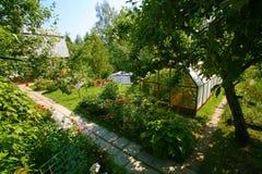 Beau territoire de jardin photographie stock libre de droits