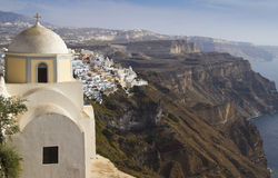 Beau Thira, Santorini Photographie stock libre de droits