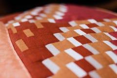 Beau tir d'oreiller créé par technique de patchwork Oreiller de ma grand-maman Image libre de droits