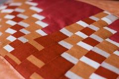 Beau tir d'oreiller créé par technique de patchwork Oreiller de ma grand-maman Photographie stock libre de droits