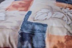 Beau tir d'oreiller créé par technique de patchwork Oreiller de ma grand-maman Images libres de droits