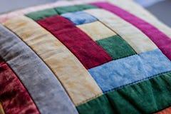 Beau tir d'oreiller créé par technique de patchwork Oreiller de ma grand-maman Photos libres de droits