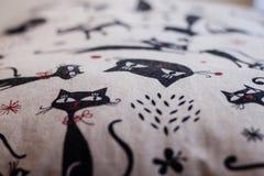 Beau tir d'oreiller créé par technique de patchwork Oreiller de ma grand-maman Images stock