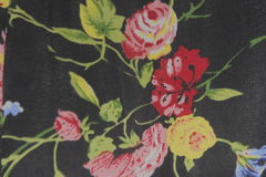 Beau tissu en soie noir de texture Photographie stock libre de droits