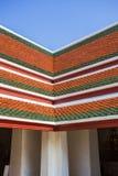 Beau toit de temple à Bangkok Thaïlande Image libre de droits