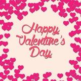 Beau Valentine Vector Card heureux Image libre de droits