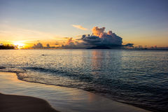 Beau Vallon bay sunset - Mahe - Seychelles Royalty Free Stock Photography