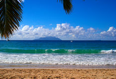 Beau Vallon beach Royalty Free Stock Images
