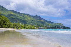 Beau Vallon beach Stock Photo