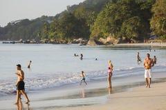 Beau Vallon Beach, Mahe, Seychelles, editorial Royalty Free Stock Photo