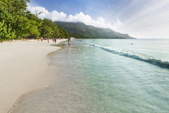Beau Vallon Beach, Mahe, Seychelles, editorial Stock Image