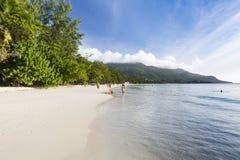Beau Vallon Beach, Mahe, Seychelles, editorial Stock Photos