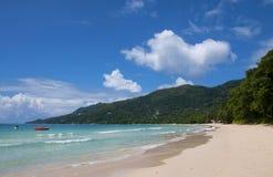 Beau vallon beach at Mahe , Seychelles Stock Photo