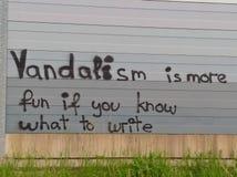 Beau vandalisme photographie stock libre de droits