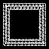 Beau vecteur abstrait de fond de diamant noir Image libre de droits