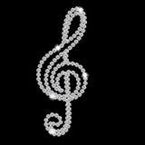 Beau vecteur abstrait de note de musique de diamant noir Photo libre de droits