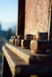 beau vieil écrou de fer sur le boulon Image libre de droits