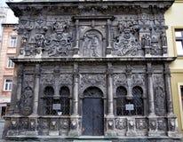 Beau vieux bâtiment - chapelle de la famille de Boim à Lviv Image stock
