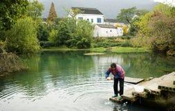 Beau village Image libre de droits