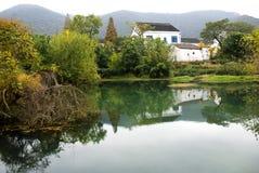 Beau village Photographie stock
